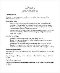 Freelance Programmer Resume