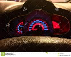Yellow Light On Speedometer Blurred Speedometer Stock Photo Image Of Dashboard 122330300
