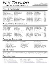film  amp  theatre resumenik taylor