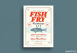 Fundraising Flyer Sample Fish Fry Fundraiser Flyer Layout Buy This Stock Template And