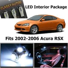 Classy Autos Acura Rsx White Interior Led Package 6 Pieces