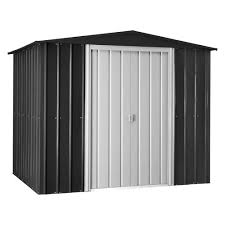 globel gable 8 ft x 6 ft anthracite gray metal shed
