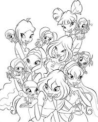 Winx Pixie Coloring Pages For Girls Coloring Coloring Pages