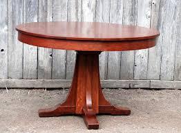 Vintage Oak Dining Table Voorhees Craftsman Mission Oak Furniture Vintage L Jg