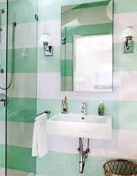 Modern Bathroom Colors Stripe Green White Modern Bathroom Paint Color Modern Bathroom