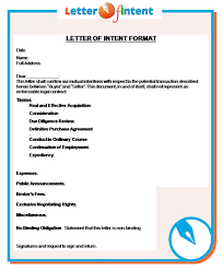 Example Of Letter Of Intent For Business Pin By Letter Of Intent On Letter Of Intent Pinterest 10