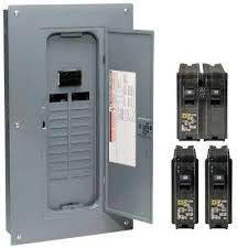 breaker boxes power distribution homeline 100 amp 20 space 40 circuit indoor main plug on neutral breaker