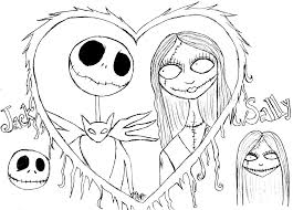 Small Picture Free Printable Nightmare Before Christmas Coloring Pages Best