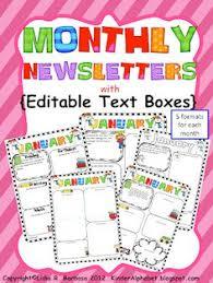 Monthly Newsletter Template For Teachers 148 Best Classroom Newsletter Images Class Newsletter Classroom