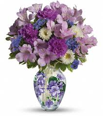 fayetteville nc florist home teleflora s sweet violet bouquet flowers view larger