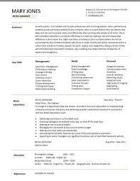 Nice Ideas Retail Resume Template Retail Resume Template 10 Free
