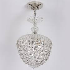 acorn crystal basket chandelier