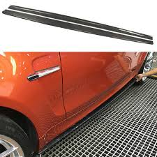 2xCarbon Fiber <b>Side Skirts</b> Extension Spoiler for BMW 1 Series <b>E82</b> ...