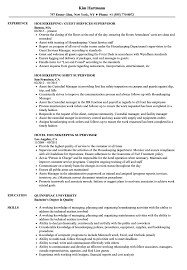 Housekeeping Resume Supervisor Housekeeping Resume Samples Velvet Jobs 82