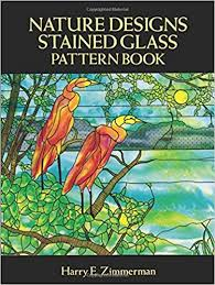 Stained Glass Pattern Books Classy Amazon Nature Designs Stained Glass Pattern Book Dover Stained