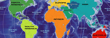World Map Images Continents Copy Outline Map Europe Continent With