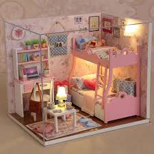 handmade dolls house furniture. Handmade Doll House Furniture Miniatura Diy Houses Miniature Dollhouse Wooden Toys For Children Grownups Birthday Gift Hlz Kits Dolls A