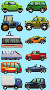 vehicles tractor racecar cars bus tram train childrens nursery wall stickers