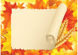 free autumn leaves with old paper scroll vector free vector art stock graphics images