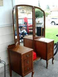 Three Way Vanity Mirror Antique 3 Mirror Vanity Antique Furniture