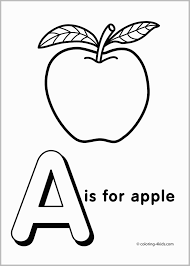 Alphabet Coloring Pages Preschool Cute Farm Abc Within For