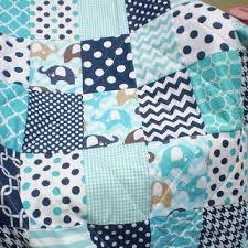 Best Elephant Baby Quilt Products on Wanelo & Baby quilt,Baby boy quilt,teal,navy blue,aqua,chevron, Adamdwight.com