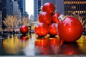 Christmas Holiday Decorations on Sixth Avenue