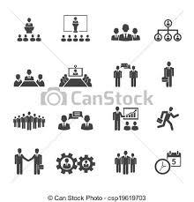 ミーティング 人々 会議 ビジネス アイコン