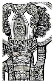 Elephant Coloring Pages Adults Color Bros