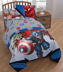 avengers twin bed set boys marvel 5 piece comforter sheets no tax