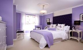Purple Bedroom Lamps Bedroom Dark Purple Wall Floral Bed Cover Rug Sofa Chairs Night