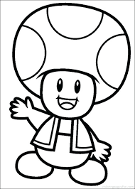 Mario Coloring Picture N7554 Super Bros Coloring Pages Free