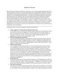 Statement Of Purpose Graduate School Example Best Photos Of Academic Statement Of Intent Examples