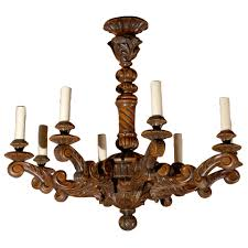 antique chandelier hand carved french wooden chandelier for