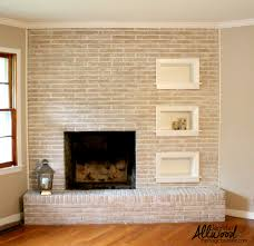 painted brick fireplace after the magic brush