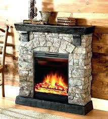 stone electric fireplace faux antique