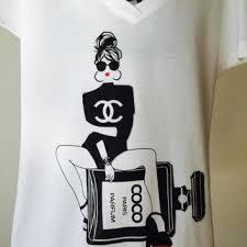 chanel shirt. chanel t-shirts for women chanel shirt t