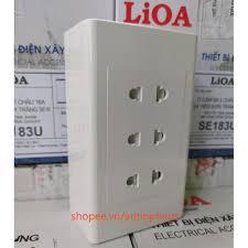 Mặt 3 ổ cắm Sino - Lioa , Ổ cắm điện âm tường