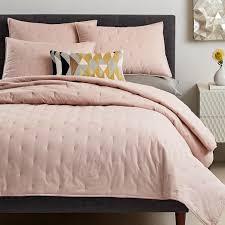 pink quilt bedding. Fine Pink Washed Cotton Quilt  Shams  Pink Blush With Bedding U