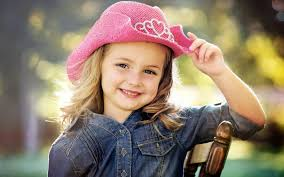 cute little baby with nice pink hat hd wallpaper