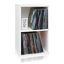 Way Basics 2Shelf Vinyl Record Storage Cube And LP Album  Shelf Lp Record Storage D85