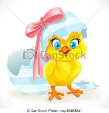 cute baby chicken clipart. Simple Baby Cute Baby Chick Just Hatched From An Easter Egg  Csp18463241 To Baby Chicken Clipart E