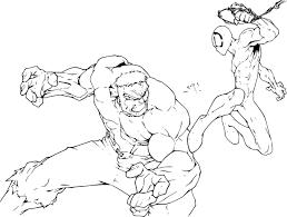Coloriage Spiderman Et Hulk Imprimer Sur Coloriages Info