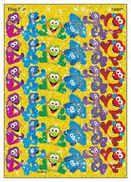Details About 72 Frog Fun Sparkle Kids Reward Stickers For Progress Charts