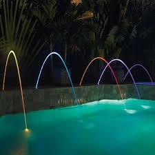 pool water at night. Pentair MagicStream Laminar Deck Jet 580001B - Black Lid Pool Water At Night