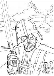 Darth Vader Met Laserzwaard Kleurplaat Gratis Kleurplaten Printen