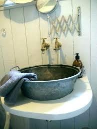 water trough bathtub cattle