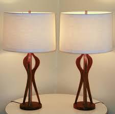 popular of mid century modern wood lamps pair mid century danish modern sculpted teak lamps 30 inch