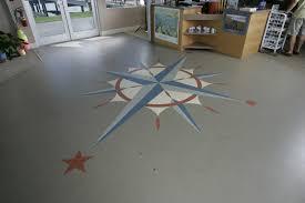 custom vinyl flooring compass yacht boat club