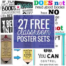 27 classroom poster sets free and fantastic